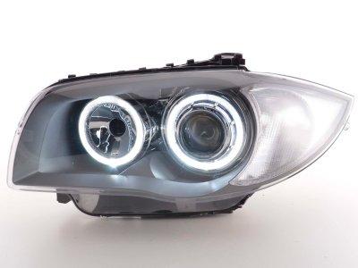 Фары передние FK Angel Eyes Gray для BMW 1 E87