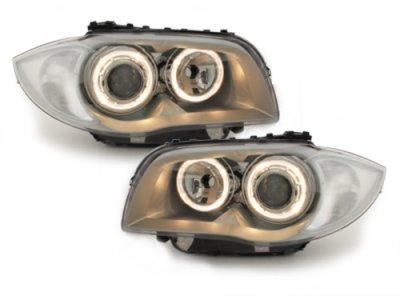 Фары передние Angel Eyes Chrome для BMW 1 E87