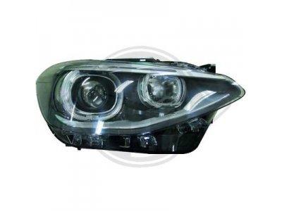 Фары передние Angel Eyes Black для BMW 1 F20 / F21