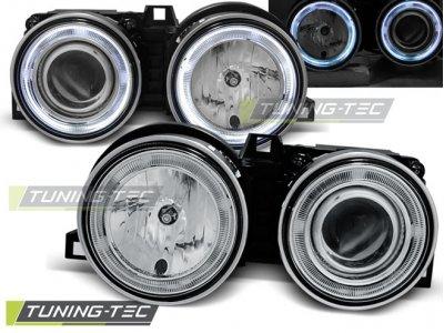 Фары передние LED Angel Eyes Chrome для BMW 3 E30
