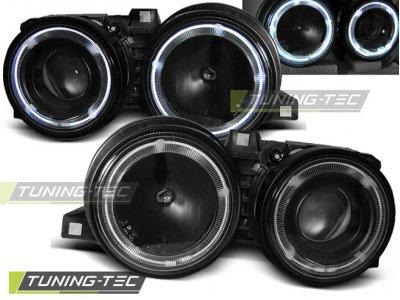 Фары передние LED Angel Eyes Black для BMW 3 E30