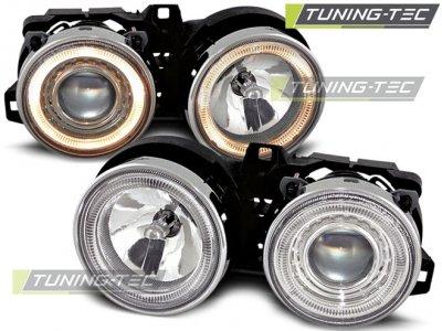 Фары передние Angel Eyes Chrome для BMW 3 E30