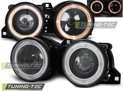 Фары передние Angel Eyes Black Var3 для BMW 3 E30