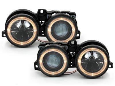 Фары передние Angel Eyes Black Var2 для BMW 3 E30
