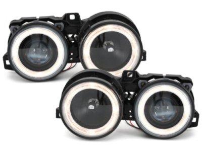 Фары передние Angel Eyes Black для BMW 3 E30