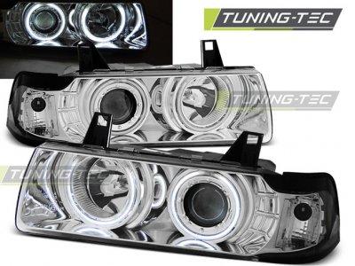 Фары передние CCFL Angel Eyes Chrome для BMW 3 E36 Coupe / Cabrio