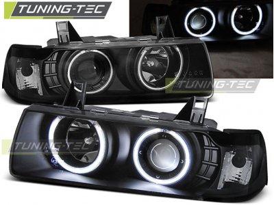 Фары передние CCFL Angel Eyes Black для BMW 3 E36 Coupe / Cabrio