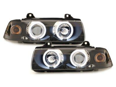 Фары передние Angel Eyes CCFL Black для BMW 3 E36 Sedan