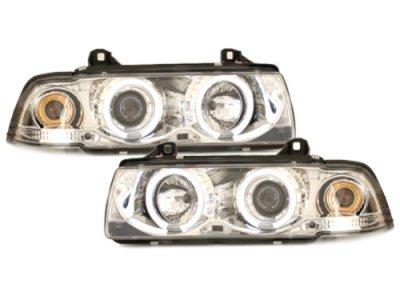Фары передние Angel Eyes CCFL Chrome для BMW 3 E36 Coupe / Cabrio