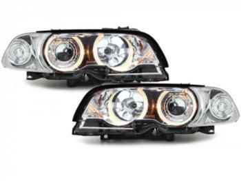 Фары передние Angel Eyes Chrome для BMW 3 E46 Coupe / Cabrio