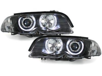 Фары передние Angel Eyes LED Black для BMW 3 E46 Coupe / Cabrio
