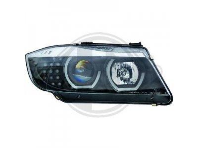 Фары передние F-Style Angel Eyes Black LED для BMW 3 E90 рестайл