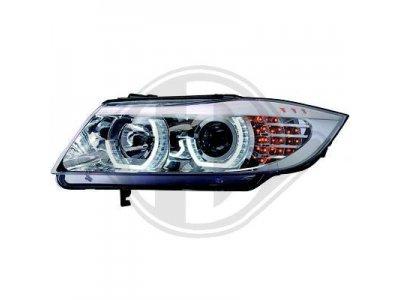 Фары передние 3D Angel Eyes LED Chrome от HD для BMW 3 E90 рестайл