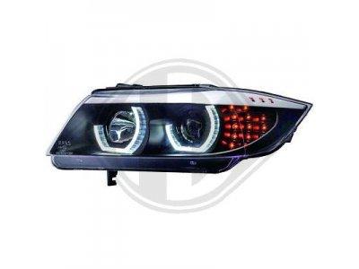 Фары передние 3D Angel Eyes LED Black от HD для BMW 3 E90 рестайл