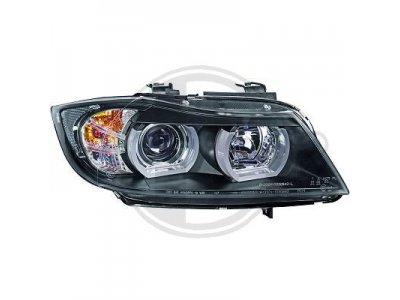 Фары передние F-Style Angel Eyes Black от HD для BMW 3 E90