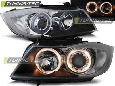 Фары передние Angel Eyes Black от Tuning-Tec для BMW 3 E90