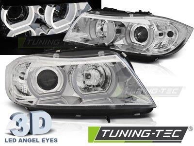 Фары передние 3D Angel Eyes Chrome от Tuning-Tec для BMW 3 E90