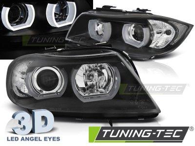 Фары передние 3D Angel Eyes Black от Tuning-Tec для BMW 3 E90