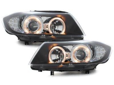 Фары передние Angel Eyes Black Var2 для BMW 3 E90