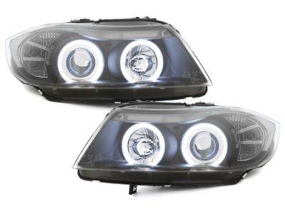 Фары передние CCFL Angel Eyes Black для BMW 3 E90