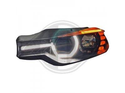 Фары передние Devil Eyes LED Black для BMW 3 F30 / F31