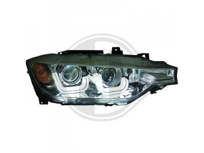 Фары передние Angel Eyes Black 3D от HD для BMW 3 F30 / F31