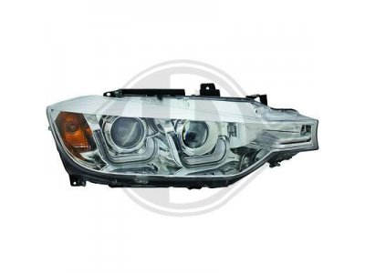 Фары передние Angel Eyes Chrome 3D от HD для BMW 3 F30 / F31