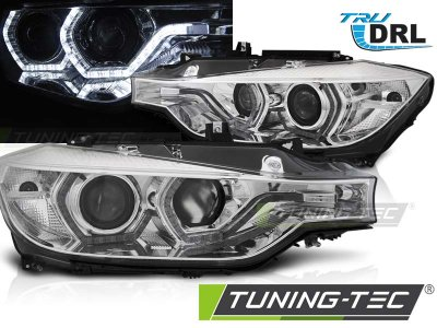 Фары передние Angel Eyes от Tuning-Tec Chrome 3D для BMW 3 F30 / F31