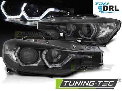 Фары передние Angel Eyes от Tuning-Tec Black 3D для BMW 3 F30 / F31