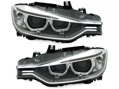 Передняя альтернативная оптика Angel Eyes от ADT Chrome 3D для BMW 3 F30 / F31 XENON