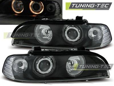 Фары передние Angel Eyes Black от Tuning-Tec для BMW 5 E39