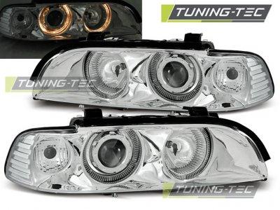 Фары передние Angel Eyes Chrome от Tuning-Tec для BMW 5 E39