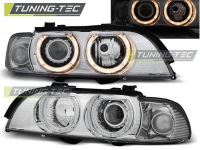 Фары передние Angel Eyes Chrome от Tuning-Tec для BMW 5 E39 XENON