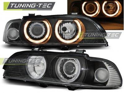 Фары передние Angel Eyes Black от Tuning-Tec для BMW 5 E39 XENON