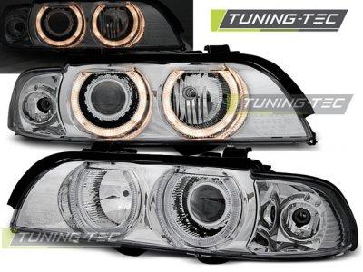 Фары передние Angel Eyes Chrome Var2 от Tuning-Tec для BMW 5 E39