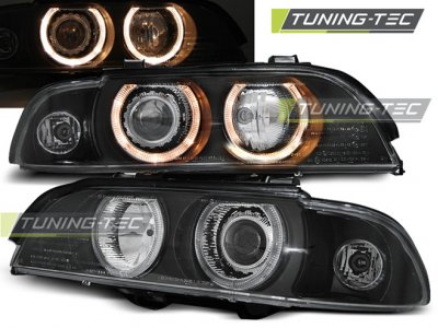 Фары передние Angel Eyes Black Var2 от Tuning-Tec для BMW 5 E39