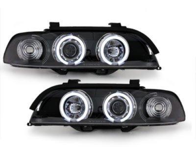 Фары передние CCFL Angel Eyes Black для BMW 5 E39