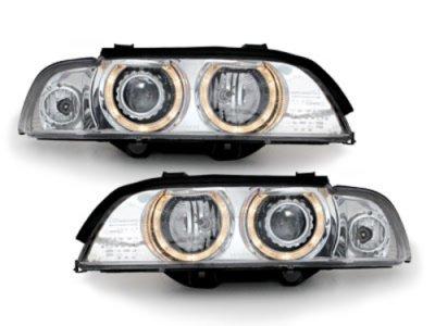 Фары передние Angel Eyes Chrome для BMW 5 E39