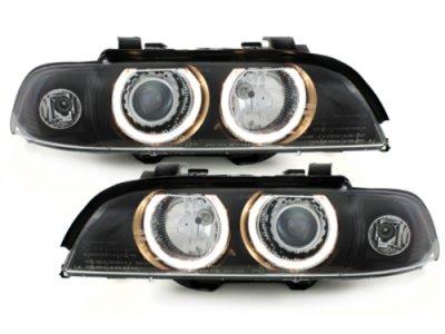 Фары передние Angel Eyes Black для BMW 5 E39