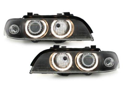 Фары передние Angel Eyes Black для BMW 5 E39 XENON
