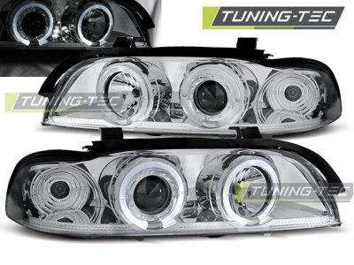 Фары передние LED Angel Eyes Chrome Var2 от Tuning-Tec для BMW 5 E39
