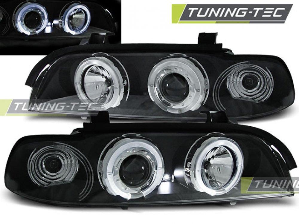 Фары передние LED Angel Eyes Black Var2 от Tuning-Tec для BMW 5 E39
