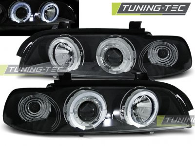 Фары передние LED Angel Eyes Black Var2 от Tuning-Tec для BMW 5 E39