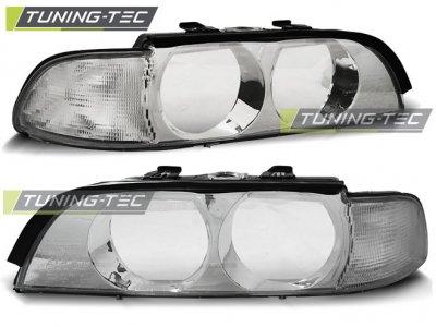 Стёкла на передние фары Chrome от Tuning-Tec для BMW 5 E39