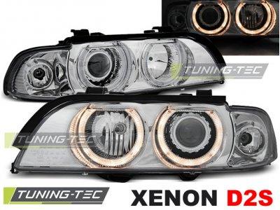 Фары передние Angel Eyes Chrome Var2 от Tuning-Tec для BMW 5 E39 XENON