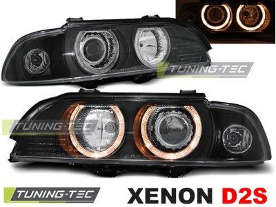 Фары передние Angel Eyes Black Var2 от Tuning-Tec для BMW 5 E39 XENON
