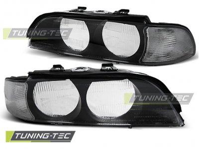 Стёкла на передние фары Black от Tuning-Tec для BMW 5 E39