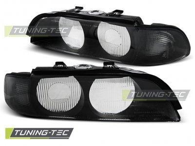 Стёкла на передние фары Black Smoke от Tuning-Tec для BMW 5 E39 XENON