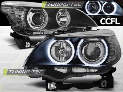 Фары передние CCFL Angel Eyes Black для BMW 5 E60