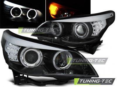 Фары передние Neon Eyes Black для BMW 5 E60